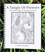 A Tangle of Flowers Peaceful Pages Coloring Journal
