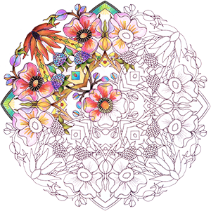 Partially Colored Mandala